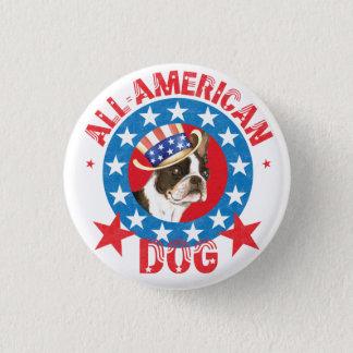 Patriotic Boston Terrier 1 Inch Round Button