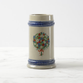 Patriotic Bouquet Beer Stein