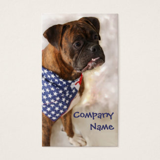 Patriotic Boxer Dog Business Cards