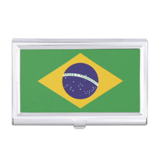 Patriotic Brazil Flag Business Card Holder