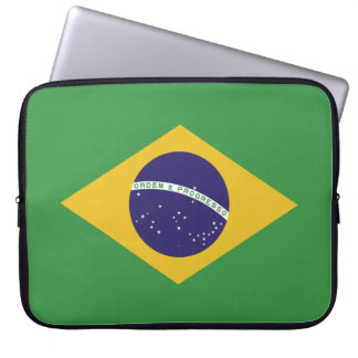 Patriotic Brazil Flag Laptop Sleeve