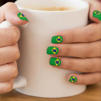 Patriotic Brazil Flag Nails Minx Nail Art