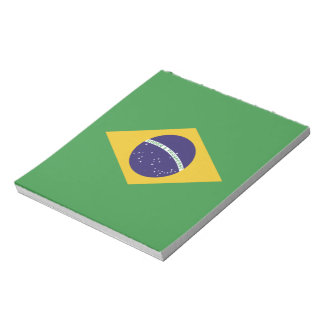 Patriotic Brazil Flag Notepad