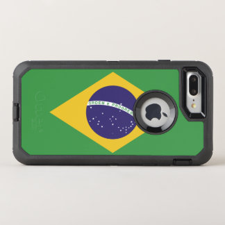 Patriotic Brazil Flag OtterBox Defender iPhone 8 Plus/7 Plus Case