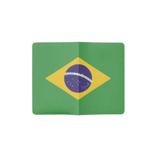 Patriotic Brazil Flag Pocket Moleskine Notebook