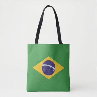 Patriotic Brazil Flag Tote Bag