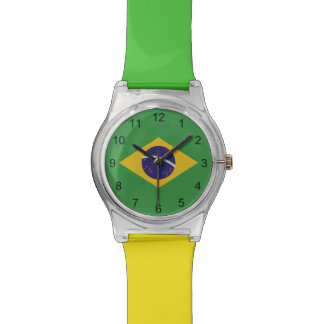 Patriotic Brazil Flag Watch