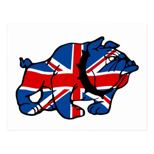 Patriotic British Bulldog Britsh flag Postcard