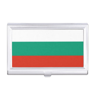Patriotic Bulgarian Flag Case For Business Cards