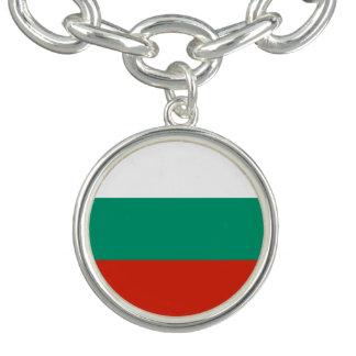 Patriotic Bulgarian Flag Charm Bracelet