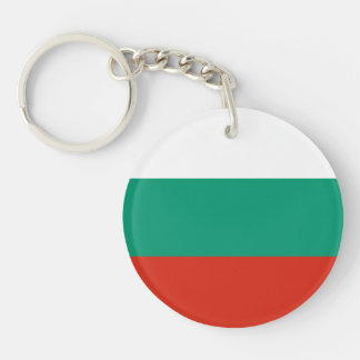 Patriotic Bulgarian Flag Double-Sided Round Acrylic Keychain