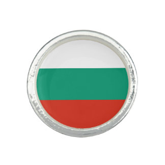 Patriotic Bulgarian Flag Photo Rings