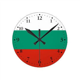 Patriotic Bulgarian Flag Round Clock
