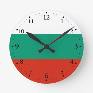 Patriotic Bulgarian Flag Wall Clock