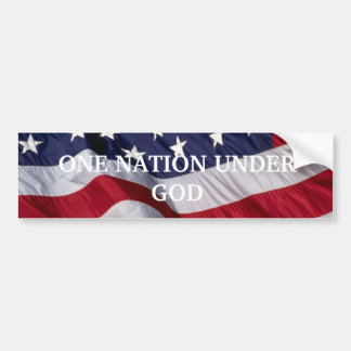 PATRiOTIC BUMBER STICKER Bumper Sticker
