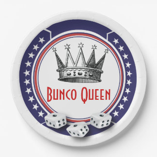 Patriotic Bunco Queen 9 Inch Paper Plate