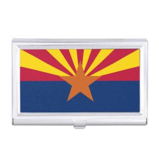 Patriotic business card holder with Arizona Flag
