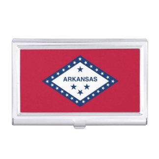 Patriotic business card holder with Arkansas Flag