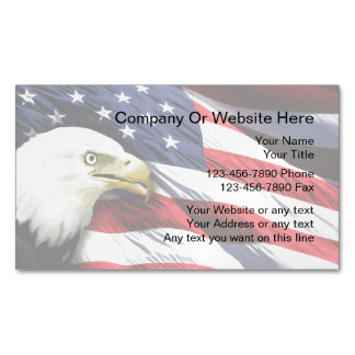 Patriotic Business Card Magnets