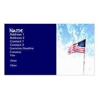 patriotic business cards American US flag art