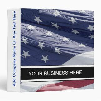 Patriotic Business Flag Binder