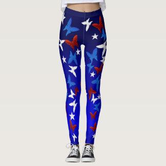 Patriotic Butterfies Leggings