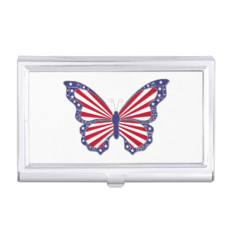 Patriotic Butterfly Business Card Holder