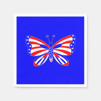 Patriotic Butterfly Disposable Napkin