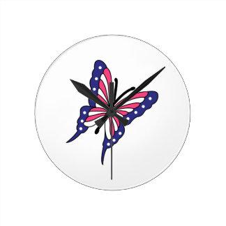 Patriotic Butterfly Wallclocks