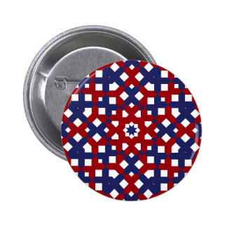 Patriotic Button Red White and Blue