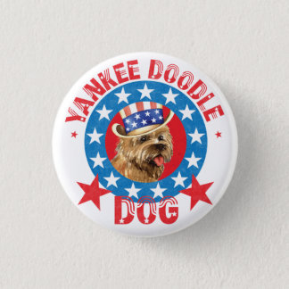 Patriotic Cairn Terrier 1 Inch Round Button