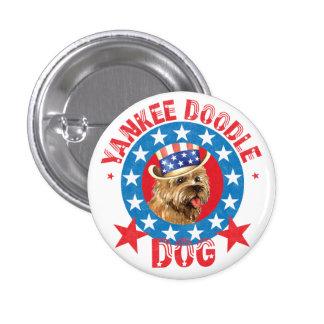 Patriotic Cairn Terrier 1 Inch Round Button