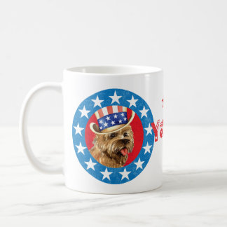 Patriotic Cairn Terrier Coffee Mug
