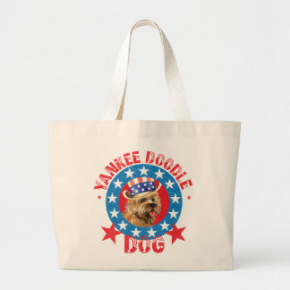 Patriotic Cairn Terrier Large Tote Bag