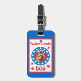 Patriotic Cairn Terrier Luggage Tag