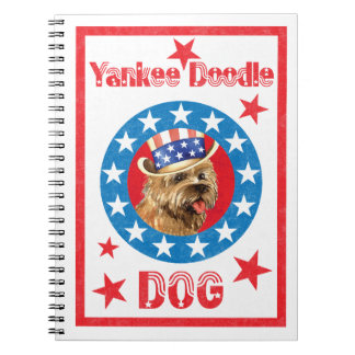 Patriotic Cairn Terrier Spiral Notebook