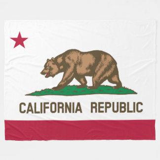 Patriotic California Republic Flag Fleece Blanket