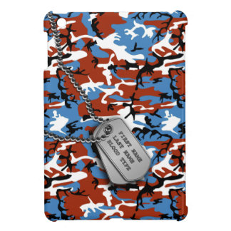 Patriotic Camo w/ Dog Tags iPad Mini Cases