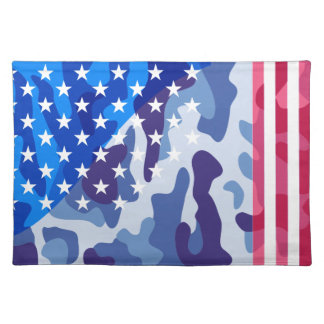 Patriotic camouflage pattern placemat