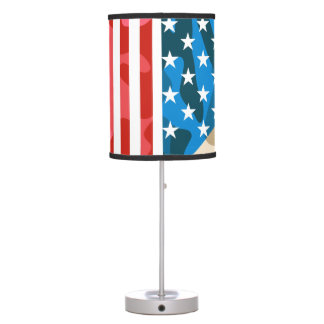 Patriotic camouflage pattern table lamp