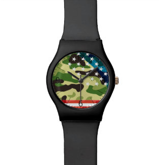 Patriotic camouflage pattern watch