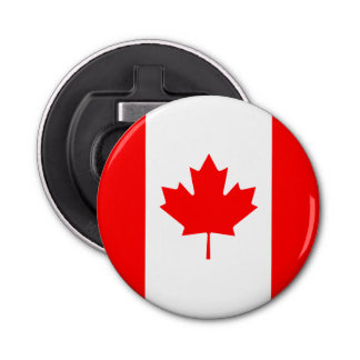 Patriotic Canadian Flag Bottle Opener