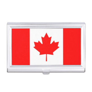 Patriotic Canadian Flag Business Card Holder