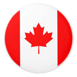 Patriotic Canadian Flag Ceramic Knob