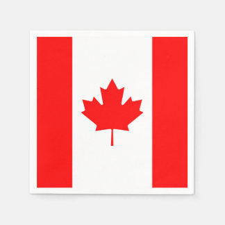Patriotic Canadian Flag Disposable Napkins
