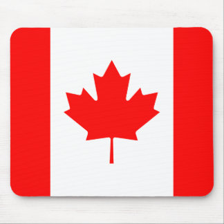 Patriotic Canadian Flag Mouse Pad