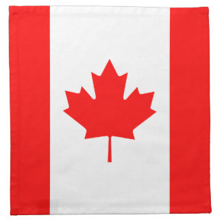Patriotic Canadian Flag Napkin
