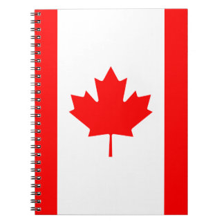 Patriotic Canadian Flag Notebooks