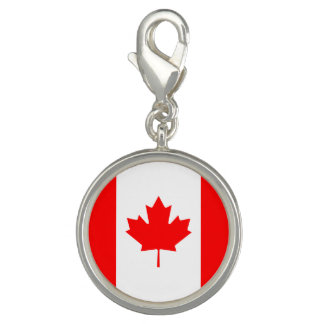 Patriotic Canadian Flag Photo Charm