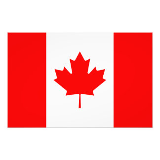 Patriotic Canadian Flag Photo Print